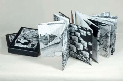 Hand-made accordion fold book with presentation box (Olympic edition), 2010